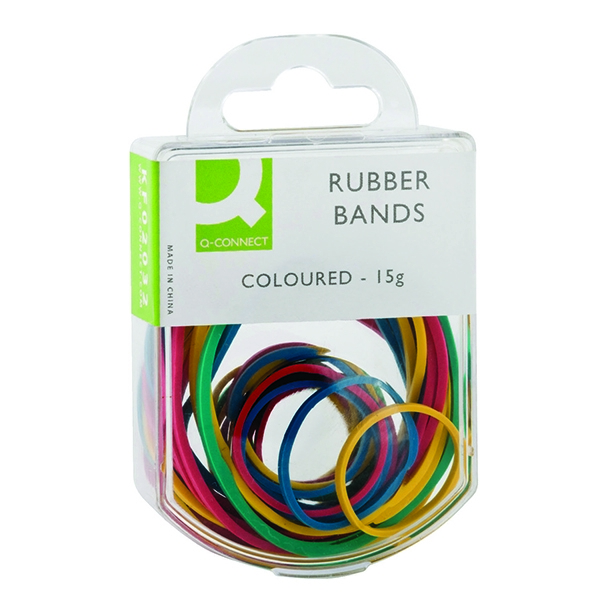 Q-Connect Rubber Bands Coloured 15g [Pack of 10]