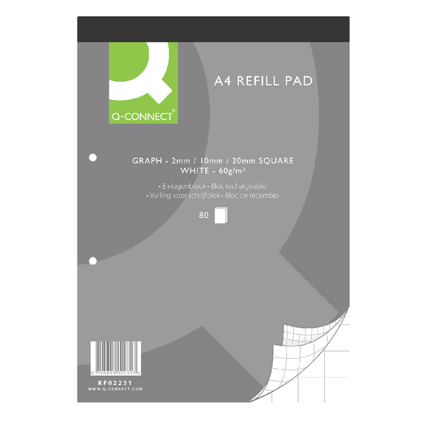Q-Connect Refill Pad A4 Graph Paper [Pack of 10]