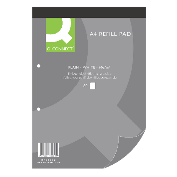 Q-Connect Refill Pad A4 Plain [Pack of 10]