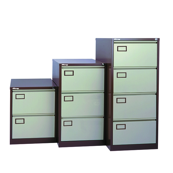 Jemini Filing Cabinet 4 Door Coffee and Cream
