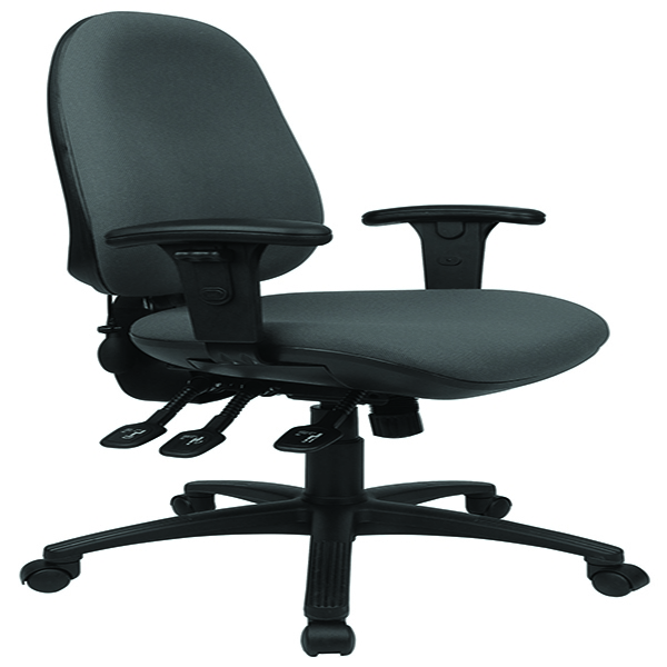 Cappela Rise High Back Posture Chair Black