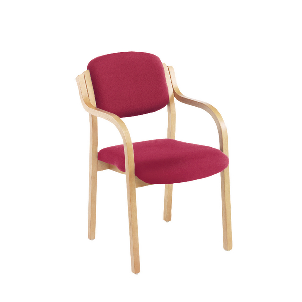 Jemini Wood Frame Side Chair and Arms Claret