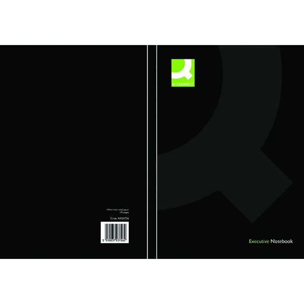 Q-Connect Casebound Book A5 Black [Pack of 3]