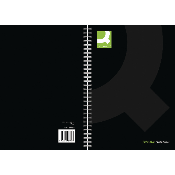 Q-Connect Wirebound Book A4 Black [Pack of 3]