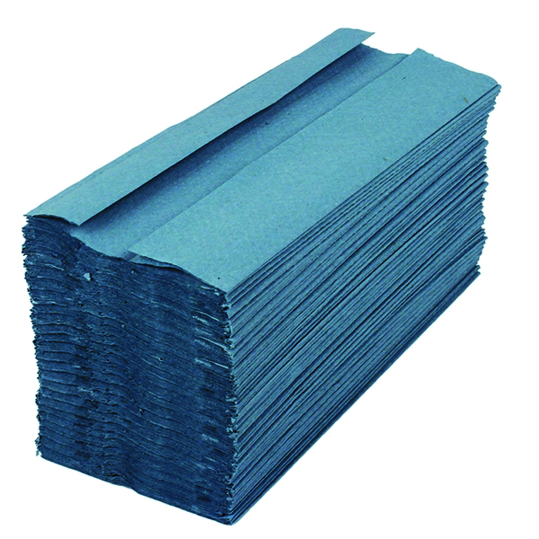 2work Hand Towel 1 Ply Blue [Pack of 15x197]