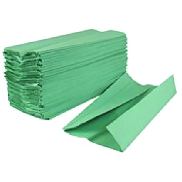 2Work Hand Towel 1 Ply Green