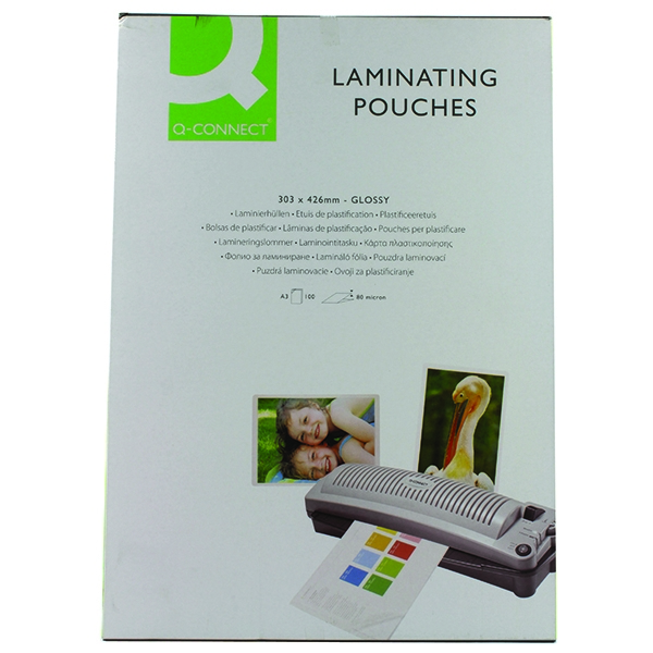 Q-Connect Laminating Pouches A3 80mic [Pack of 100]