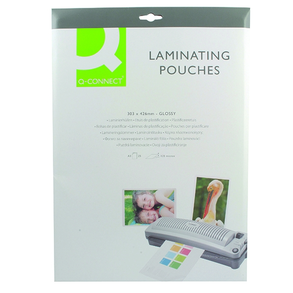 Q-Connect Laminating Pouch A3 125mic [Pack of 25]