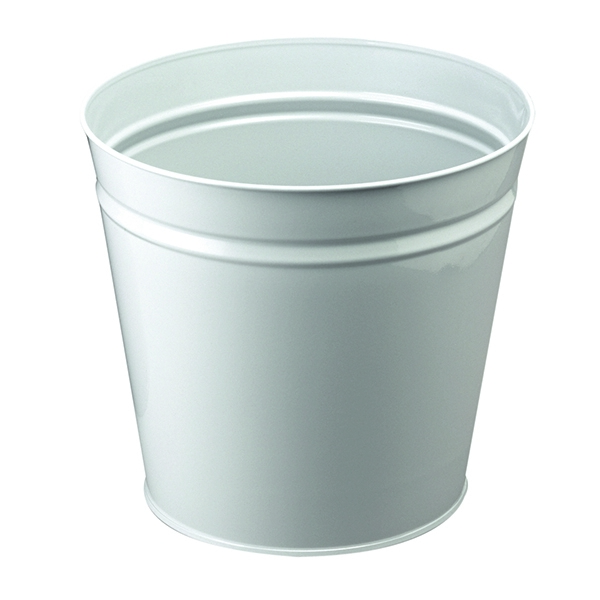 Q-Connect Waste Bin 15 Litre Metal Round Grey