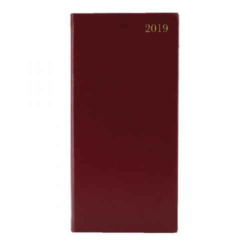 Condiary Slim Week to View Diary 2019 Burgundy