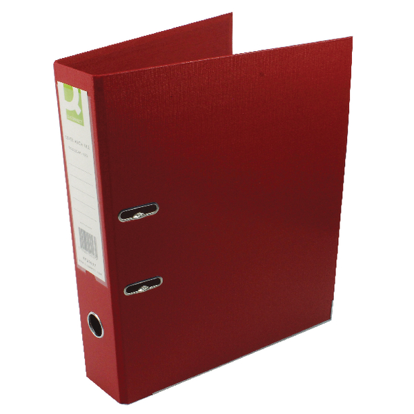 Q-Connect Lever Arch File Foolscap Polypropylene Red [Pack of 10]
