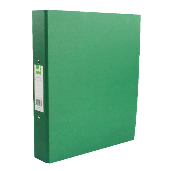 Q-Connect Ring Binder Paperbacked A4 Green [Pack of 10]