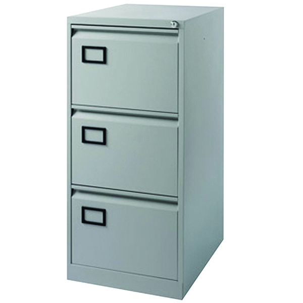 Jemini Filing Cabinet 3 Drawer Grey