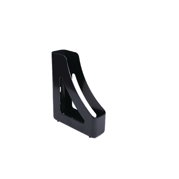 Q-Connect Executive Magazine Rack Black