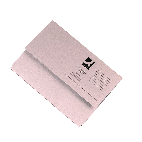 Q-Connect Document Wallet Foolscap Buff [Pack of 50]