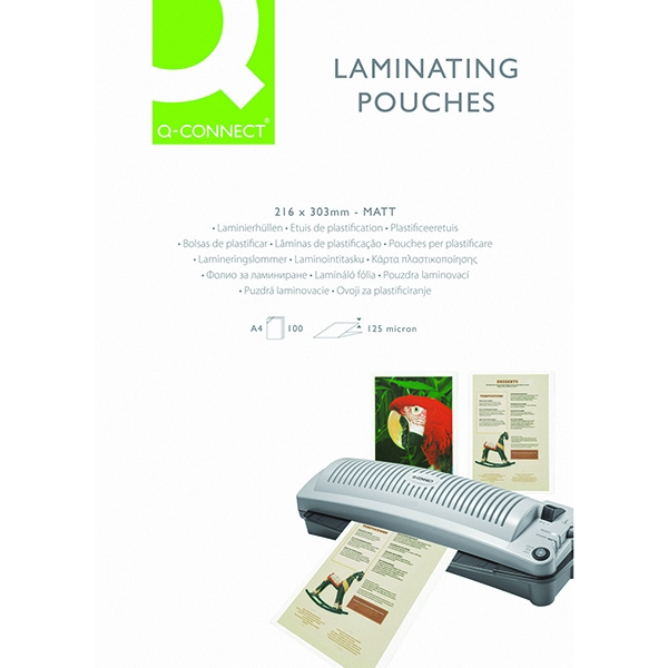Q-Connect A4 Matt Laminating Pouch 125 micron [Pack of 100]