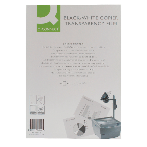 Q-Connect OHP Copier Film Clear [Pack of 100]
