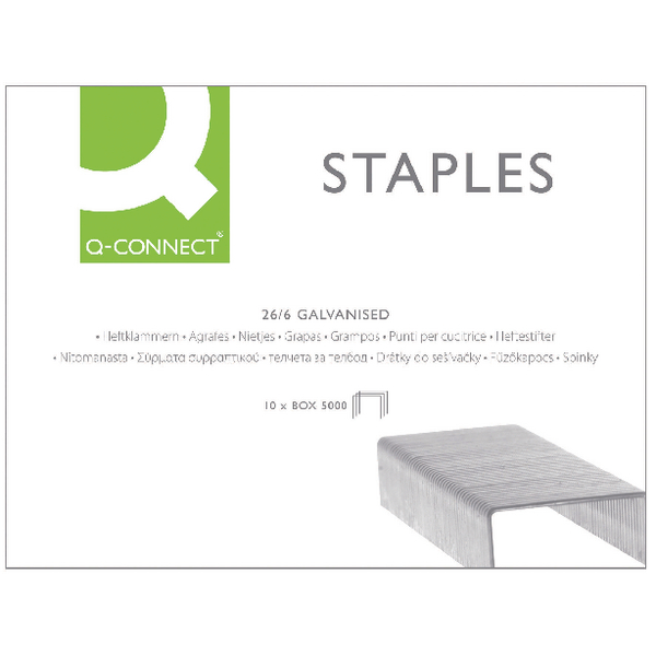 Q-Connect Staples 26/6 [Pack of 5000]