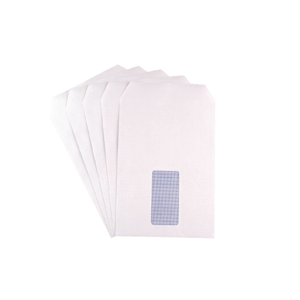 Q-Connect C5 Envelopes Self Seal 90g White Window [Pack of 500]