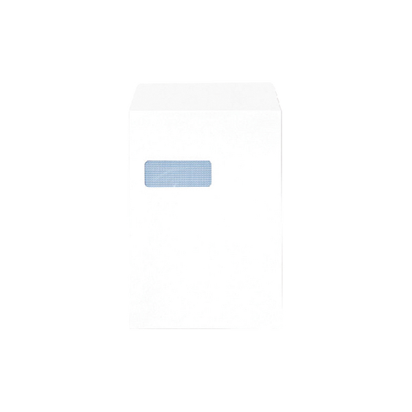 Q-Connect C4 Envelopes Self Seal 90g White Window [Pack of 250]
