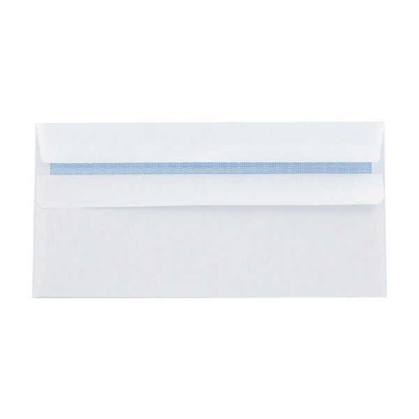 Q-Connect Envelopes Self Seal DL 100g White Recycled [Pack of 500]