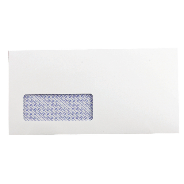 Q-Connect Envelopes Self Seal DL Window White Recycled [Pack of 500]