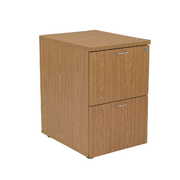 Jemini 2 Drawer Filing Cabinet Oak