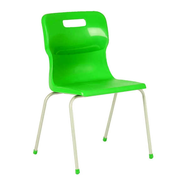 Titan 4 Leg School Chair Size 3 Green