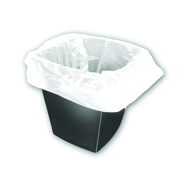 2Work Square Bin Bags White 28g [Pack of 1000]