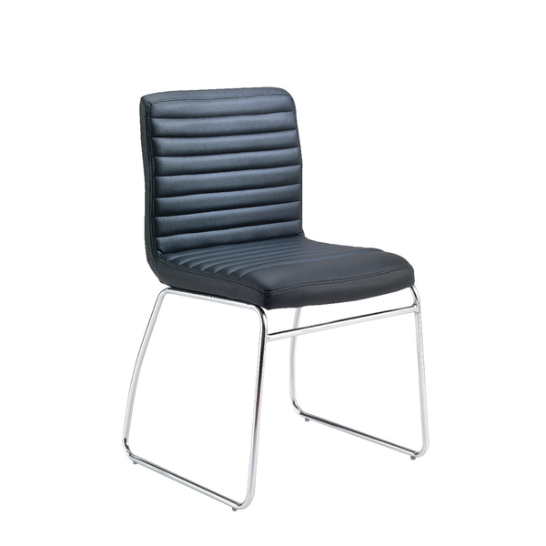 Jemini Dart Leather Look Visitor Chair