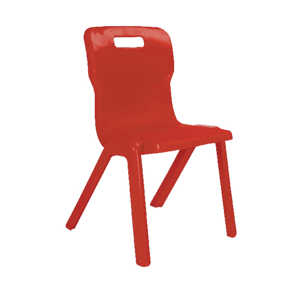Titan One Piece School Chair Size 1 Red KF78502