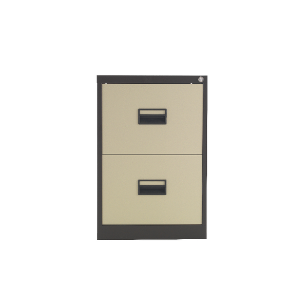 Talos 2 Drawer Filing Cabinet Coffee and Cream