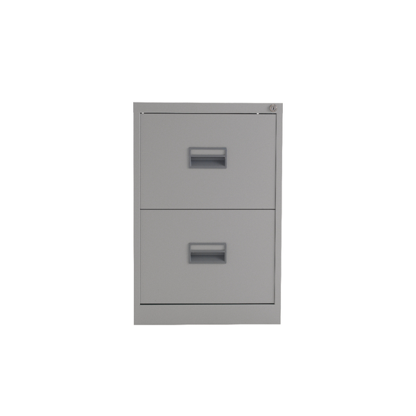 Talos 2 Drawer Filing Cabinet Grey