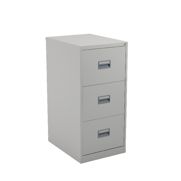 Talos 3 Drawer Filing Cabinet Grey