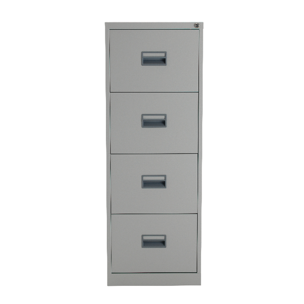 Talos 4 Drawer Filing Cabinet Grey