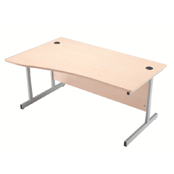Jemini 1600mm Left Hand Cantilever Wave Desk Maple