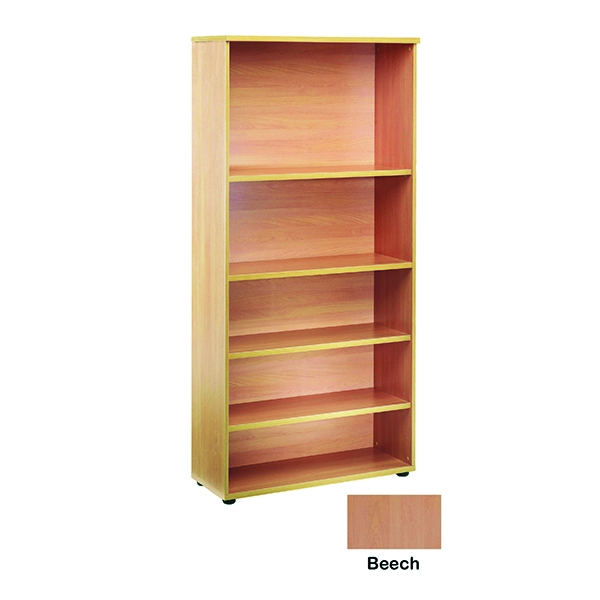 Jemini 2000mm Bookcase 4 Shelf Beech