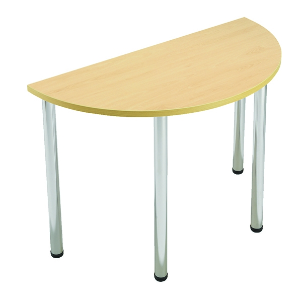 Jemini Folding Semi-Circular Meeting Table 1360x680x735mm