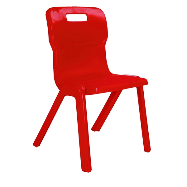 Titan 1 Piece Chair 460mm Red [Pack of 10]