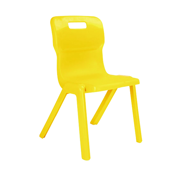 Titan 1 Piece Chair 310mm Yellow [Pack of 30]