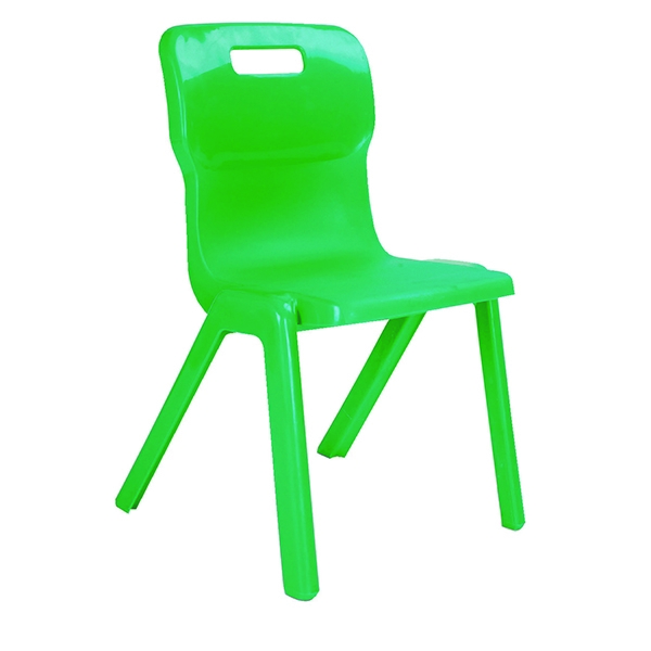 Titan 1 Piece Chair 380mm Green [Pack of 30]