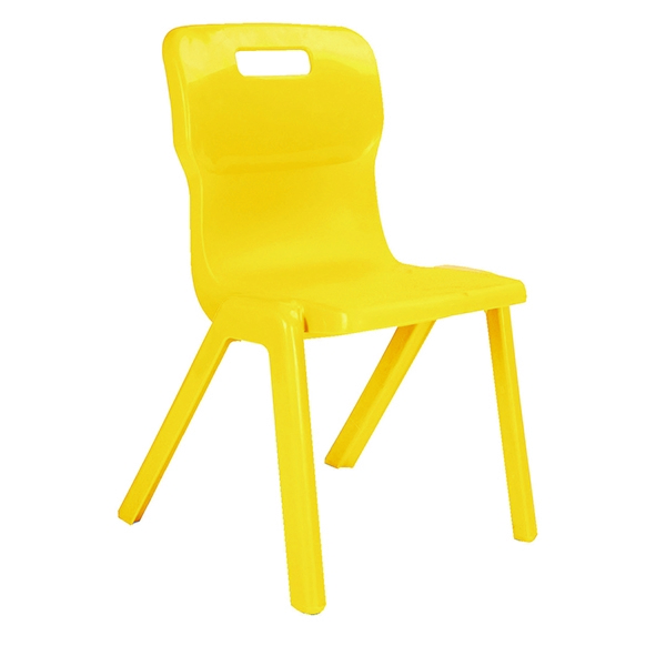 Titan 1 Piece Chair 460mm Yellow [Pack of 30]
