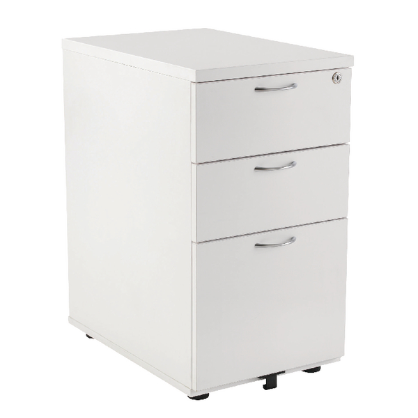 First Desk High Pedestal 3DR 800mm White [Alternative Picture 1]