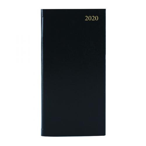 Condiary Slim Week to View Appointment Diary 2020 Black