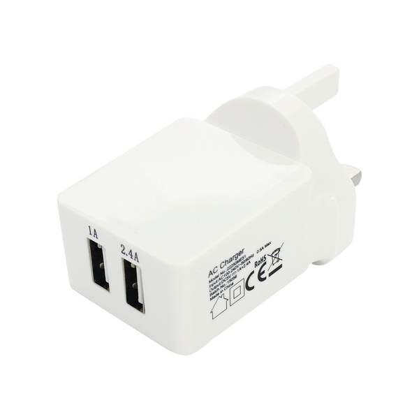 Reviva Twin USB Mains Charger
