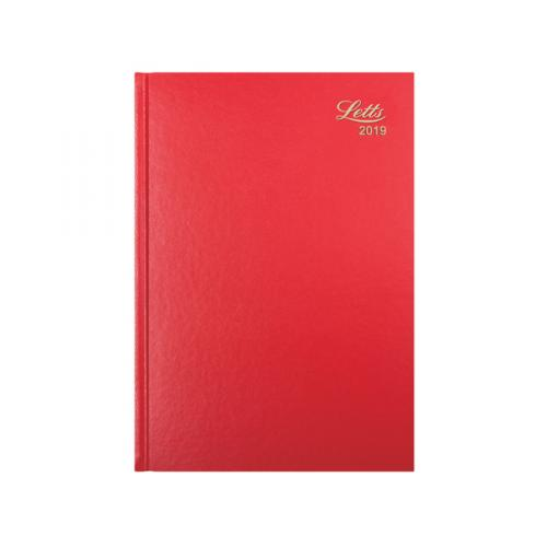 Letts A4 Business Diary Week to View 2019 Red