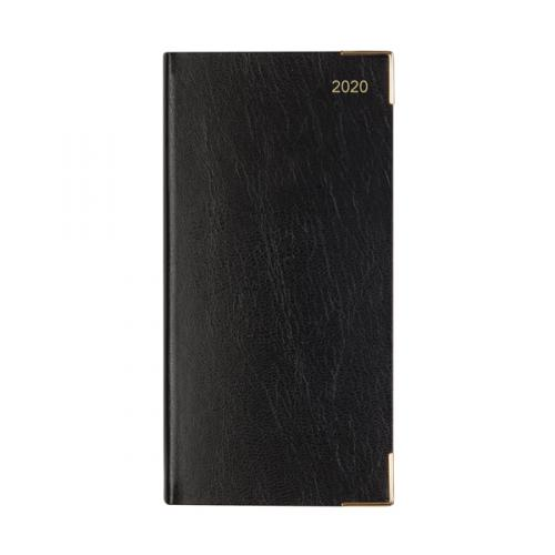Letts Business Slim Week to View Appointment Diary Portrait Black 2020