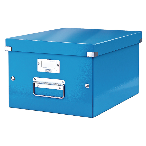 Leitz Click and Store A4 Medium Storage Box Blue
