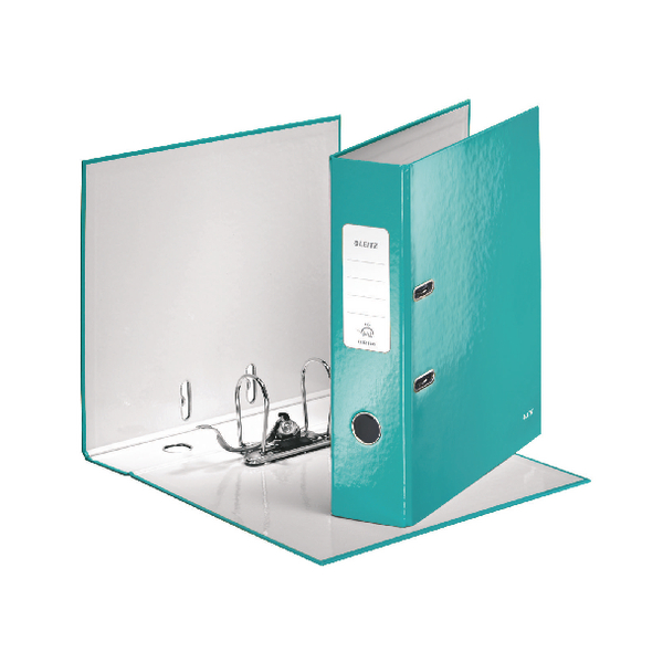 Leitz Wow Lever Arch File A4 85mm Ice Blue [Pack of 10]