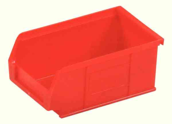 Small Parts Container 100x165x75mm Louvered Value 3 Red